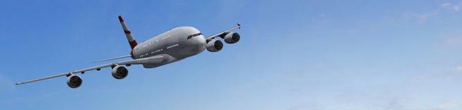 Modern Passenger airplane Royalty Free Stock Images
