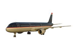 Modern Passenger Jet. Airplane. Isolated, Clipping Path included Stock Images
