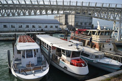 Modern passenger pleasure craft, Venice. Royalty Free Stock Images