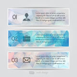 Modern pastel triangular style Business Infographics. Royalty Free Stock Photos