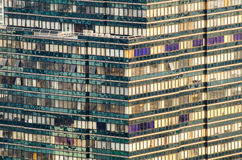 Modern pattern building. The modern building in bangkok city near chaophaya river Royalty Free Stock Photography