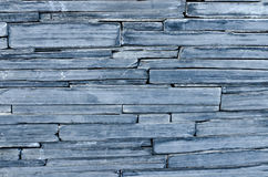 Modern pattern of bule stone wall decorative surfaces Stock Photography