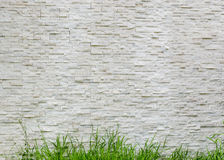 Modern pattern of real stone wall Royalty Free Stock Photography