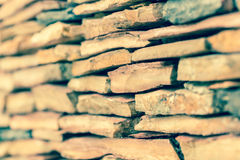 Modern pattern of stone wall decorative surfaces Royalty Free Stock Photo