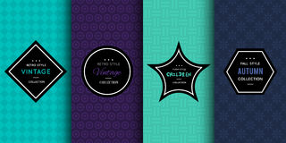 Modern patterns for bright background Stock Image