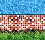 Modern pavement with pool Stock Images