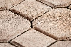 Modern paving stones Royalty Free Stock Images