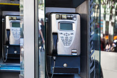 Modern payphone Royalty Free Stock Image