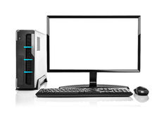 Modern PC computer isolated. stock photography