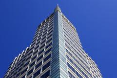 Modern Peaked Corner Skyscraper Royalty Free Stock Photography