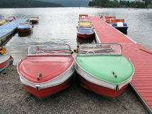 Modern pedal boats Royalty Free Stock Photo