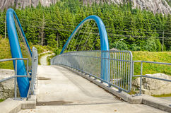 Modern Pedestrian Bridge Royalty Free Stock Images