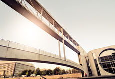 Modern pedestrian bridge Stock Photos