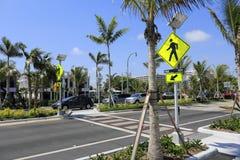 Modern Pedestrian Crosswalk Stock Photo