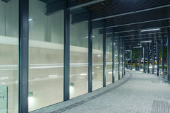 Modern pedestrian walkway Royalty Free Stock Images