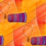 Modern pendant, trumpet seamless watercolor artist wallpaper tex Stock Photography