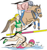 Modern Pentathlon Stock Photography