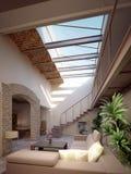 modern penthouse Arkivbilder