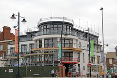 Modern penthouse apartment. Photo of modern penthouse apartments being built in herne bay along seafront on the site where the Bun Penny public house use to be Royalty Free Stock Images