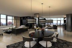 A Modern Penthouse Stock Photography