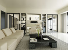 Modern Penthouse Stock Images
