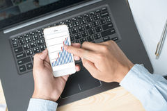 Modern people doing business, graphs and charts Stock Photo
