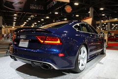 Modern performance car rear Royalty Free Stock Images
