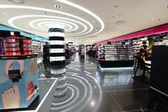 Modern perfume shopping center in Paris Royalty Free Stock Photo