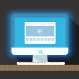 Modern personal computer with a browser Royalty Free Stock Photo