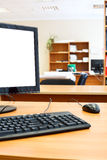 Modern personal computer on desk Stock Images