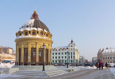 Modern Peterburgskaya street in Kazan Royalty Free Stock Images