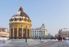 Modern Peterburgskaya street in Kazan Royalty Free Stock Images