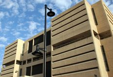 Modern Phoenix parking garage. Modern parking ramp building in Phoenix, Arizona Stock Photos