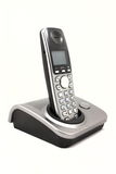 Modern phone. Isolated image of telephone on a white background Stock Photo