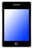 Modern phone. With blue and white touchscreen Stock Image