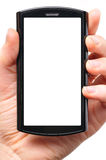 Modern phone in hands Royalty Free Stock Images