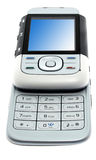 Modern phone isolated stock photo