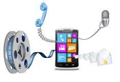 Modern phone. Royalty Free Stock Image