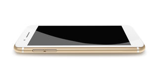 Modern phone realistic smartphone. Royalty Free Stock Photos