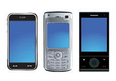 Modern phones Stock Images