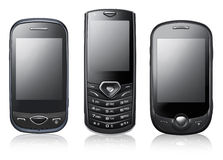 Modern phones Stock Image