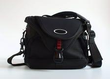Modern photo-bag. Medium size black modern practical photo-bag royalty free stock photography