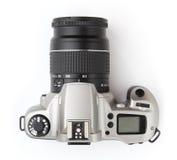 Modern photo camera isolated on white background Royalty Free Stock Images
