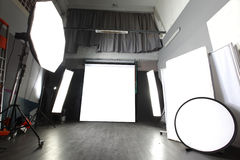 Modern photo studio Royalty Free Stock Images