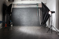 Modern photo studio. Interior of a modern photo studio stock photography
