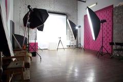 Modern photo studio. Interior of a modern photo studio Stock Image