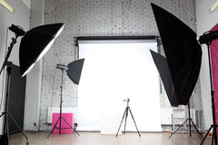 Modern photo studio Royalty Free Stock Photos