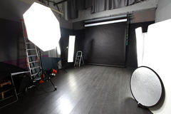 Modern photo studio Stock Images
