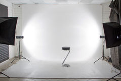 Modern photo and video studio Stock Photos