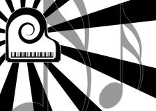 Modern piano music background stock photo